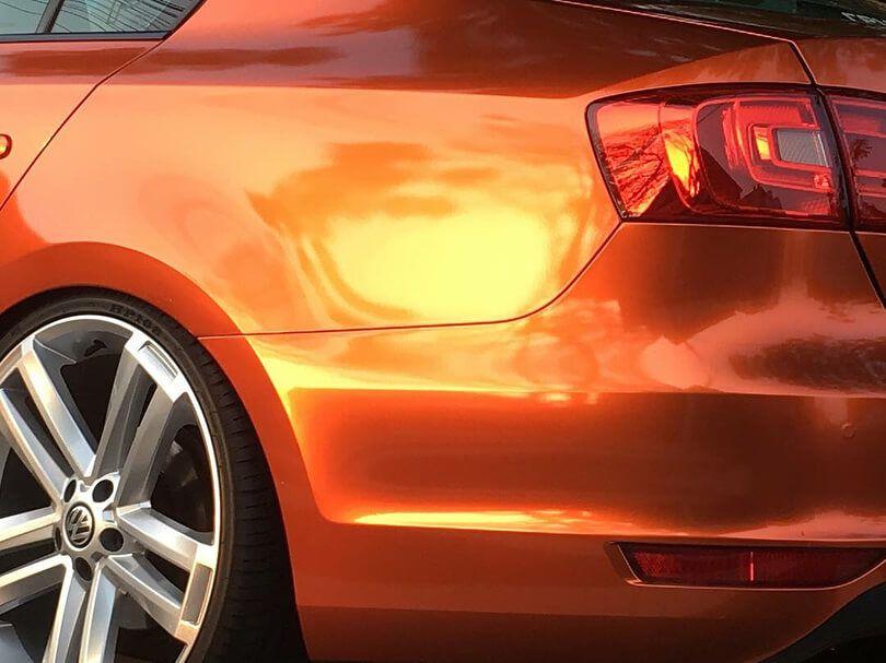 GAL06 Gloss Aluminium Paprika Orange - Escolha entre metro linear ou rolo fechado