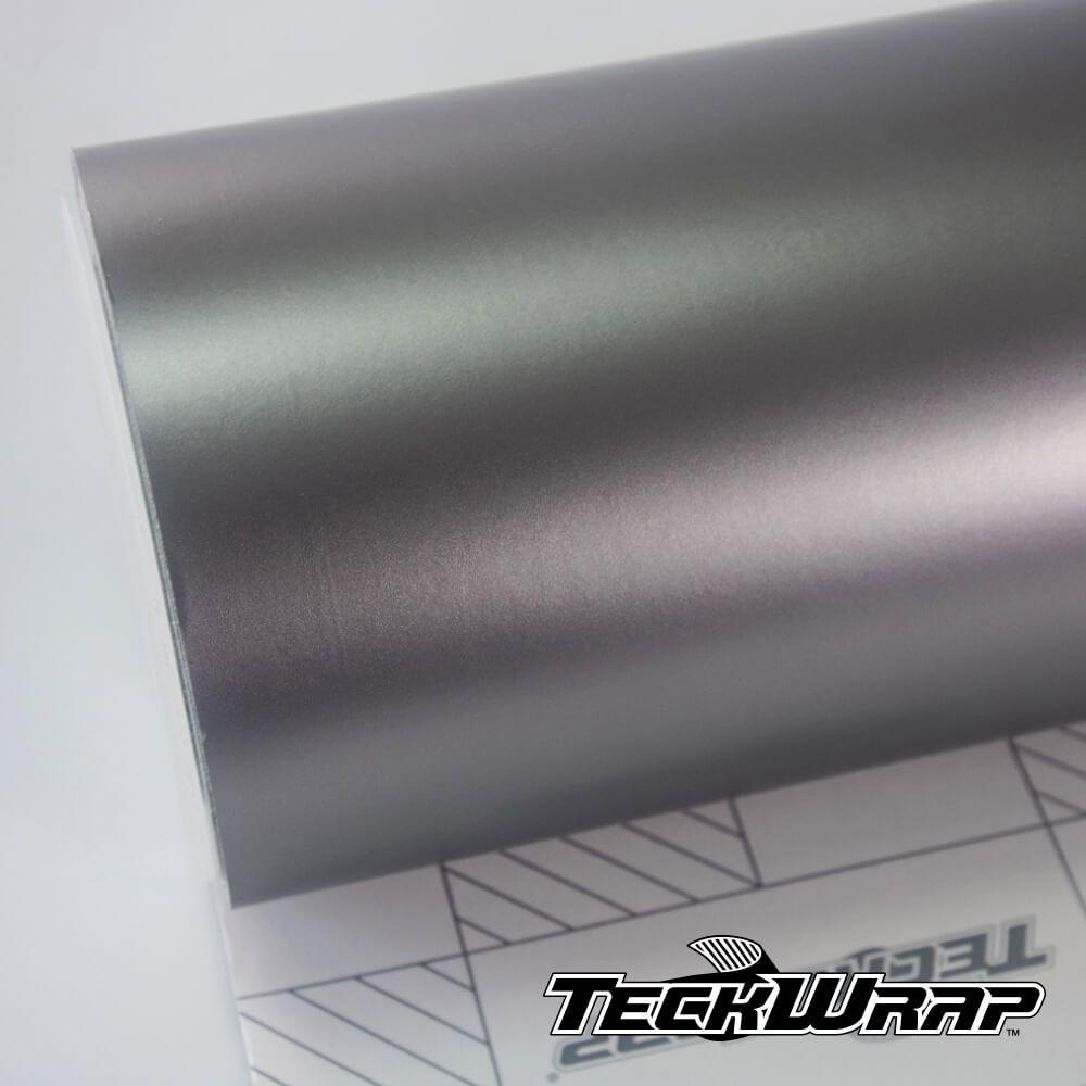 Teckwrap - VCH410 Satin Chrome Gunmetal (Earl) Grey - Metro linear ou rolo fechado