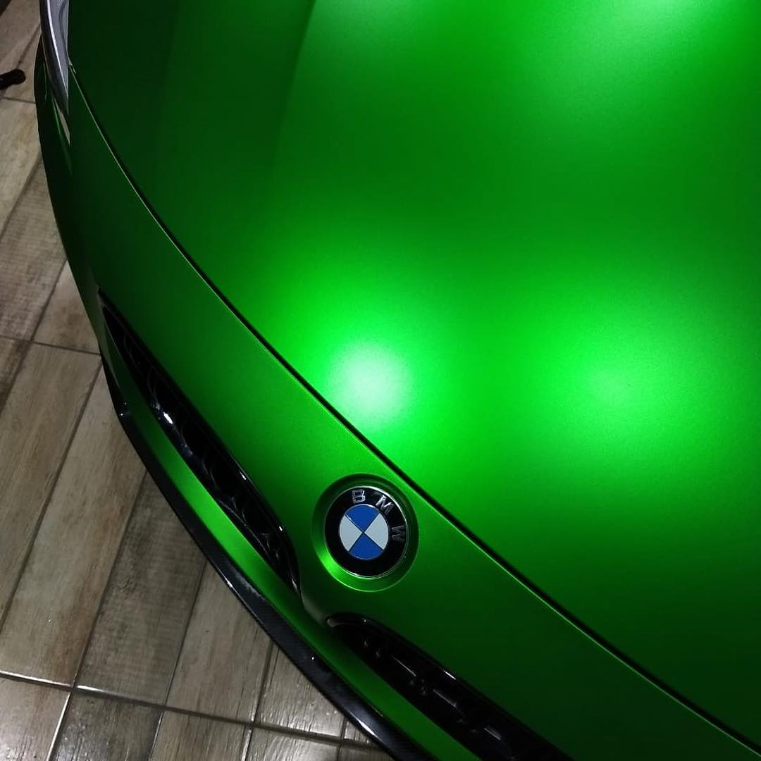 VCH307 Matte Chrome Apple Green - Escolha entre metro linear ou rolo fechado