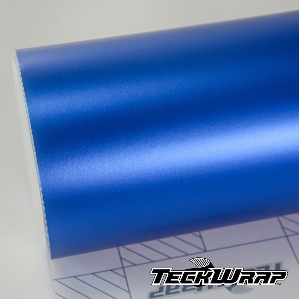 VCH402 Satin Chrome Velvet Blue - Escolha entre metro linear ou rolo fechado