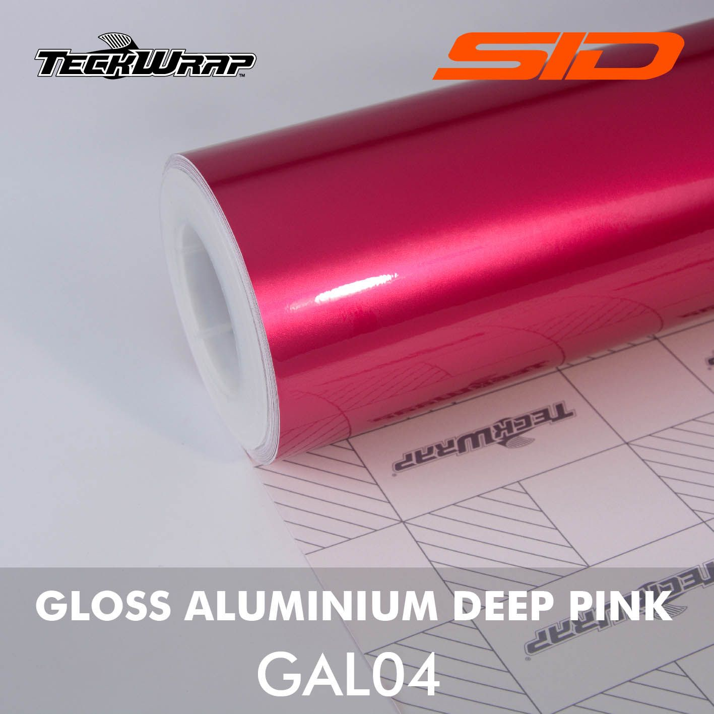 Vinil TeckWrap - Gloss Aluminium - Metro Linear