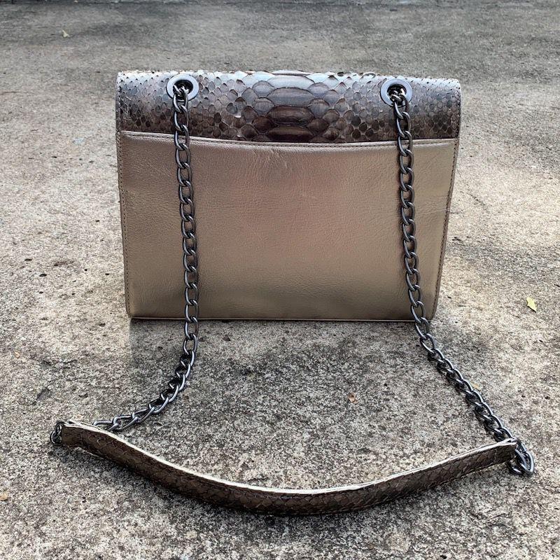 Bolsa Athenas prata velha