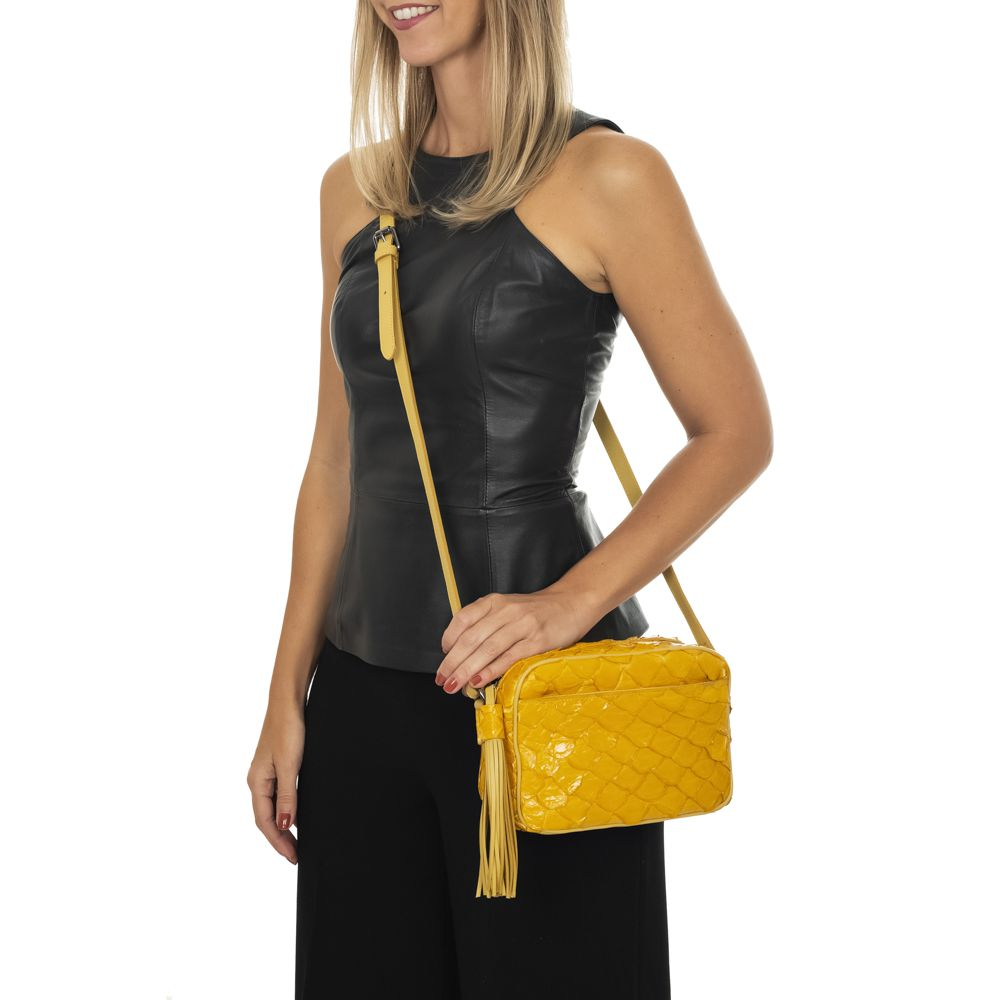 Bolsa Lourdes p amarela
