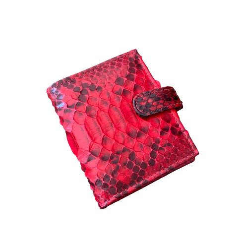 Carteira .botão p vermelha