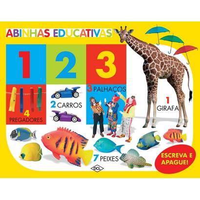 ABINHAS EDUCATIVAS - 123 - COM ESCREVA E APAGUE  - Gutana Brinquedos