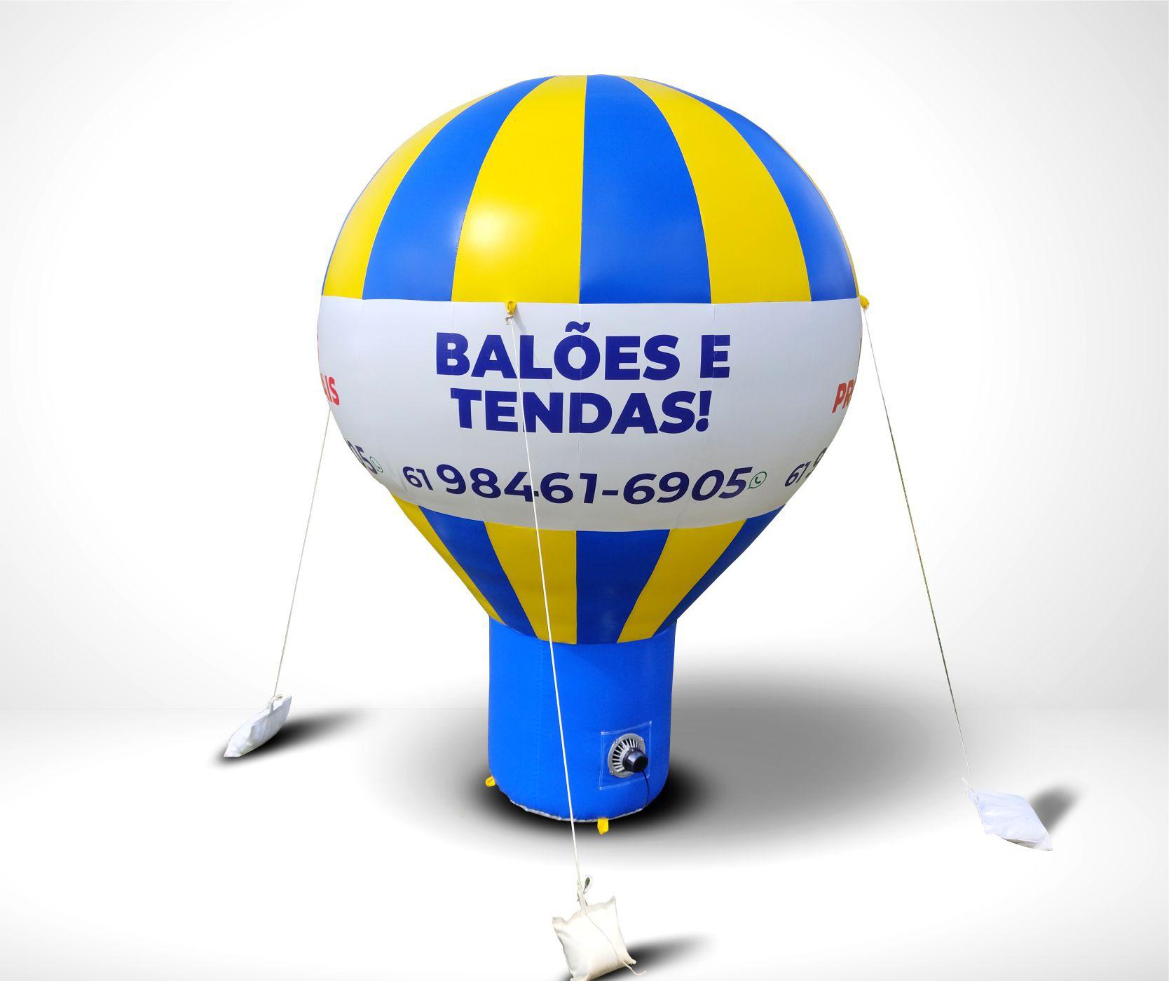 Balão Inflável Promocional - 3 MT -  Personalizado c/ 4 Faces