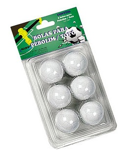 Blister 06 bolas para Pebolim Klopf  - Gutana Brinquedos