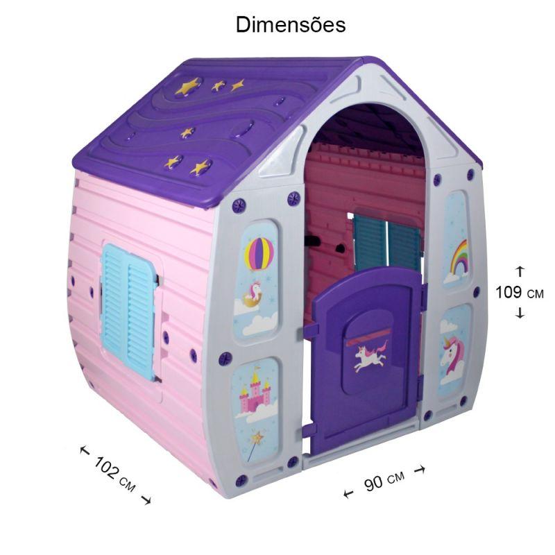 Casinha de Brinquedo Unicórnio  - Gutana Brinquedos