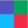 Verde/Vermelho/Azul/Roxo