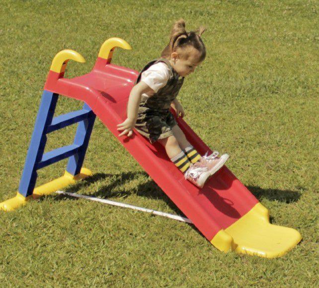 ESCORREGADOR INFANTIL COM APOIOS  - Gutana Brinquedos
