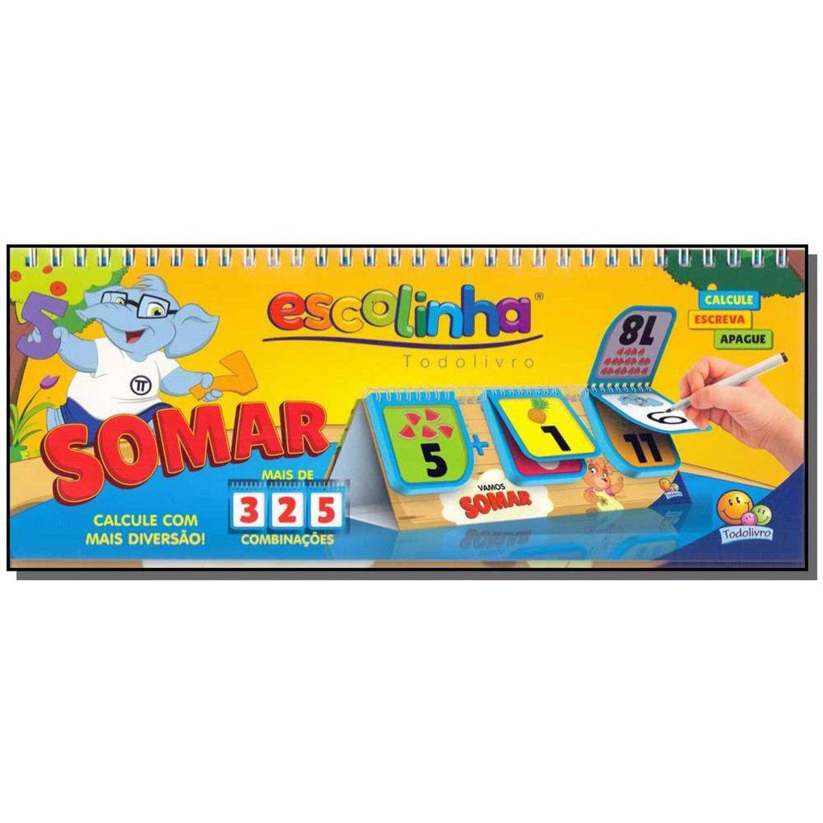 Flip-Book - Combinações Divertidas: Somar (Escolinha Todolivro)  - Gutana Brinquedos