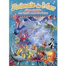 Livro - Animais do Mar: Álbum Atividade - Marisa M. Moreira  - Gutana Brinquedos