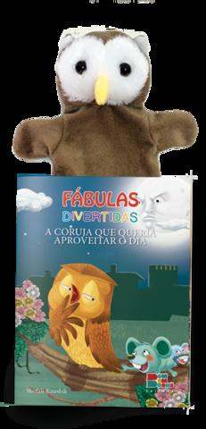 Livro Fantoche - Fábulas Divertidas - A Coruja Que Queria Aproveitar o Dia  - Gutana Brinquedos