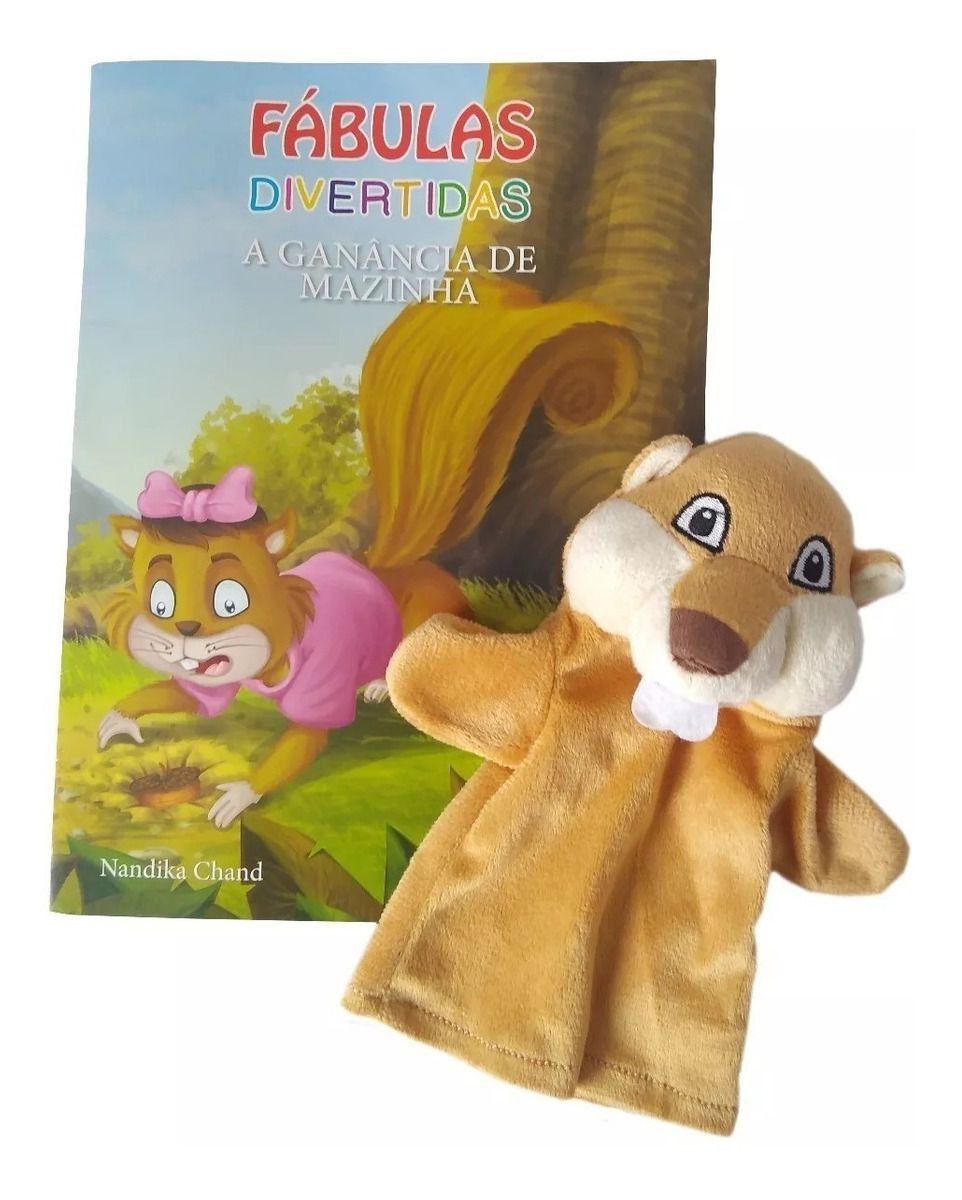 Livro Fantoche - Fábulas  Divertidas - A Ganância de Mazinha  - Gutana Brinquedos