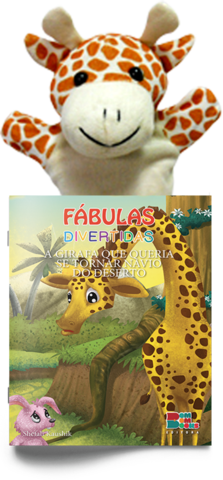 Livro Fantoche - Fábulas Divertidas -  A Girafa Que Queria se Tornar Navio do Deserto
