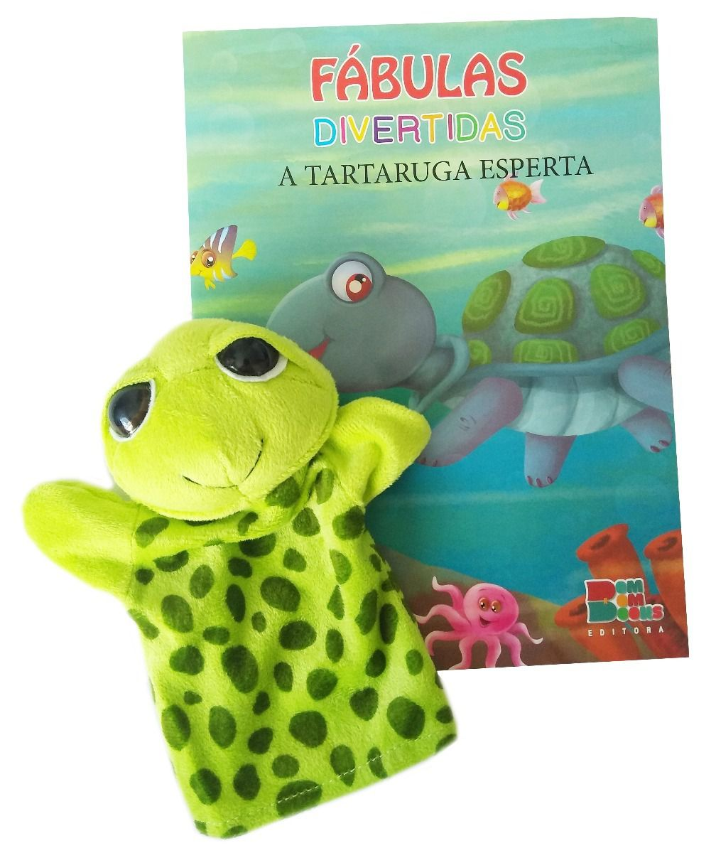 Livro Fantoche - Fábulas Divertidas - A Tartaruga Esperta