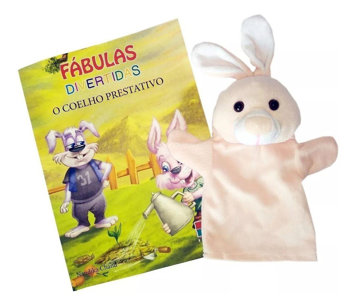 Livro Fantoche - Fábulas Divertidas - O coelho Prestativo  - Gutana Brinquedos