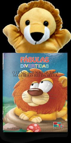 Livro Fantoche - Fábulas Divertidas - O leão Que Não Queria Mais Ser o Rei da Selva