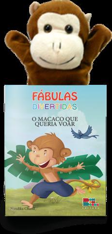 Livro Fantoche - Fábulas Divertidas - O macaco que Queria voar