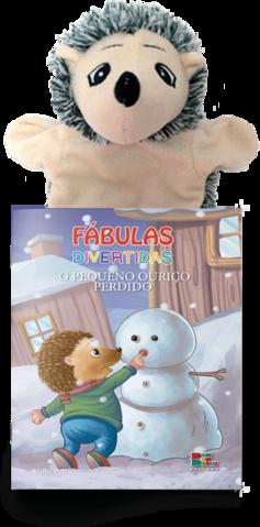 Livro Fantoche - Fábulas Divertidas - O Pequeno Ouriço  - Gutana Brinquedos