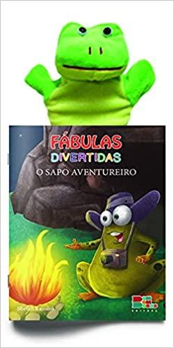 Livro Fantoche - Fábulas Divertidas - O sapo Aventureiro  - Gutana Brinquedos