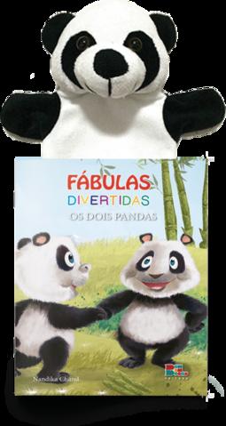 Livro Fantoche - Fábulas Divertidas - Os Dois Pandas