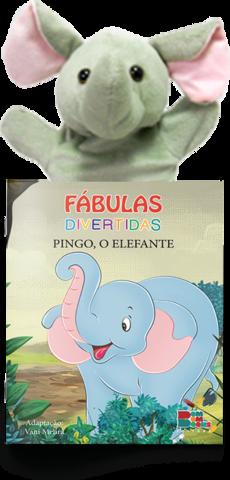 Livro Fantoche - Fábulas Divertidas - Pingo , O elefante  - Gutana Brinquedos