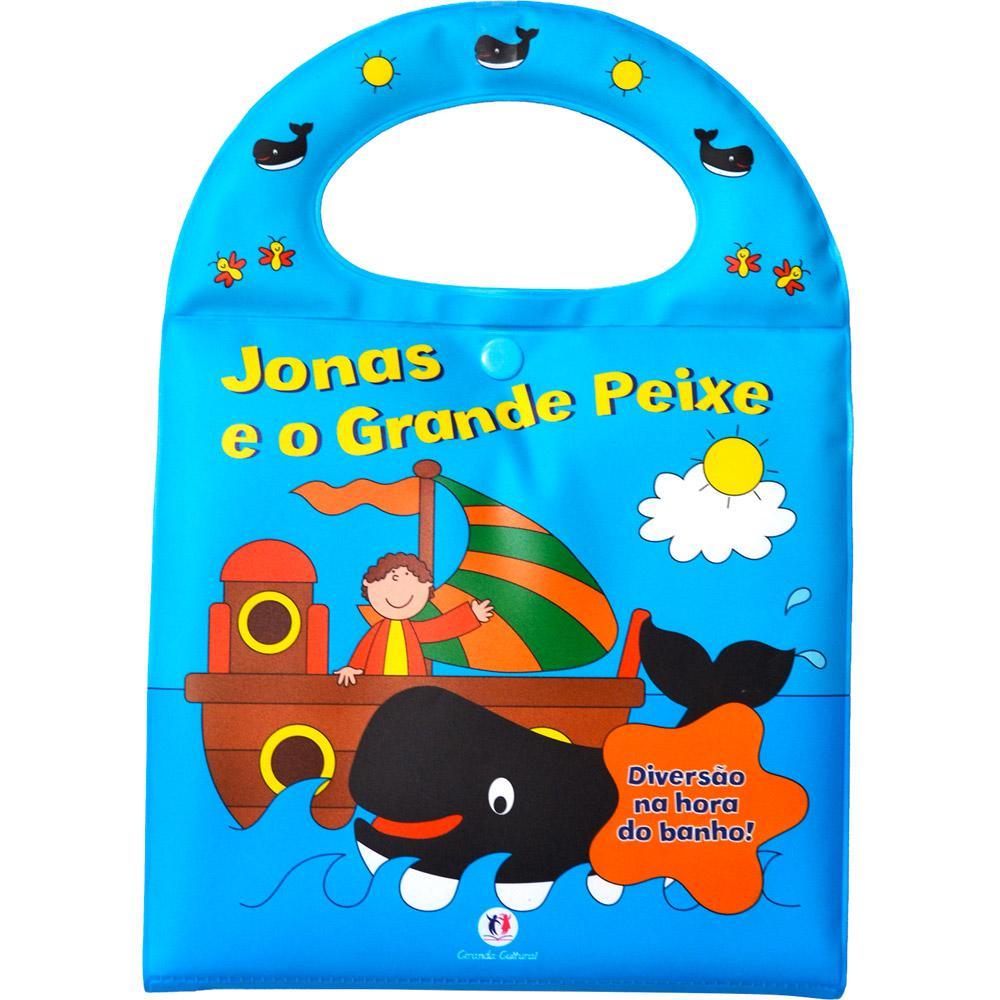 Livro - Jonas e o Grande Peixe: Diversão na Hora do Banho!  - Gutana Brinquedos