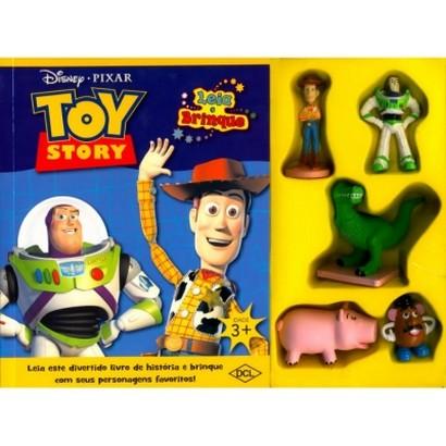 Toy Story Miniaturas + Livro - Leia E Brinque    - Gutana Brinquedos
