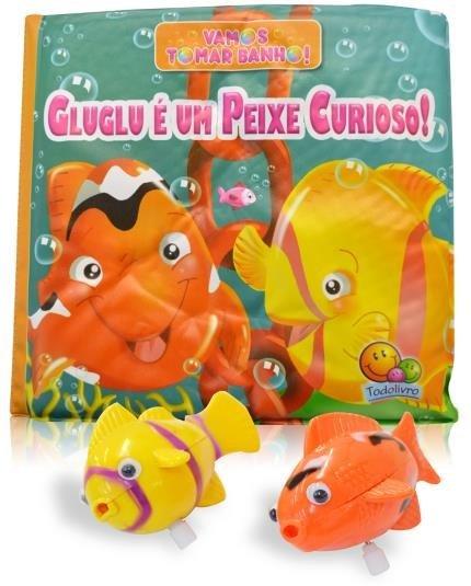 Vamos tomar banho! Gluglu é um peixe curioso!