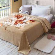 Cobertor Casal Raschel Plus Estampa Molino Jolitex