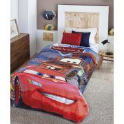 Cobertor Microfibra com Sherpa Dupla Face Solteiro Digital HD Disney Carros Jolitex