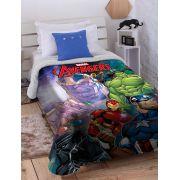 Cobertor Microfibra com Sherpa Dupla Face Solteiro Digital HD Marvel Avengers Ultimate Jolitex