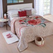 Cobertor Microfibra Soft Casal Caixa Dyuri Beluna Caramelo Jolitex