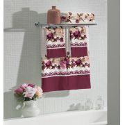 Jogo de Banho Estampado 4 Peças Flora Lepper