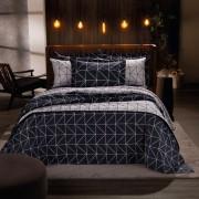 Jogo de Cama Casal Home Design 100% algodão 4 peças Lars Azul Santista