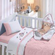 Jogo de Lençol de Berço Americano Linha Baby Malha 100% algodão 3 Peças Buettner