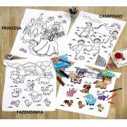 Kit Toalha de veludo para Colorir com Canetinhas Buettner