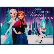 Tapete Infantil 70x50 Disney Frozen 100% Poliéster Corttex