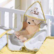 Toalha de Bebê com capuz Baby Plush Felpudo com bordado 1 peça Buettner