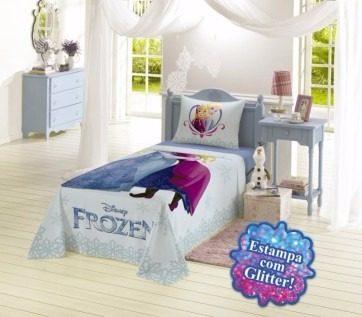 Jogo De Cama 3 Peças Frozen 100% algodão 150 Fios Lepper