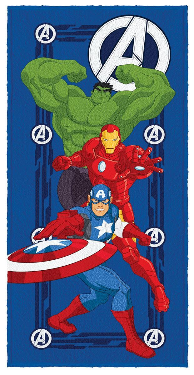 Toalha de Banho Infantil Felpuda Vingadores Avengers Lepper