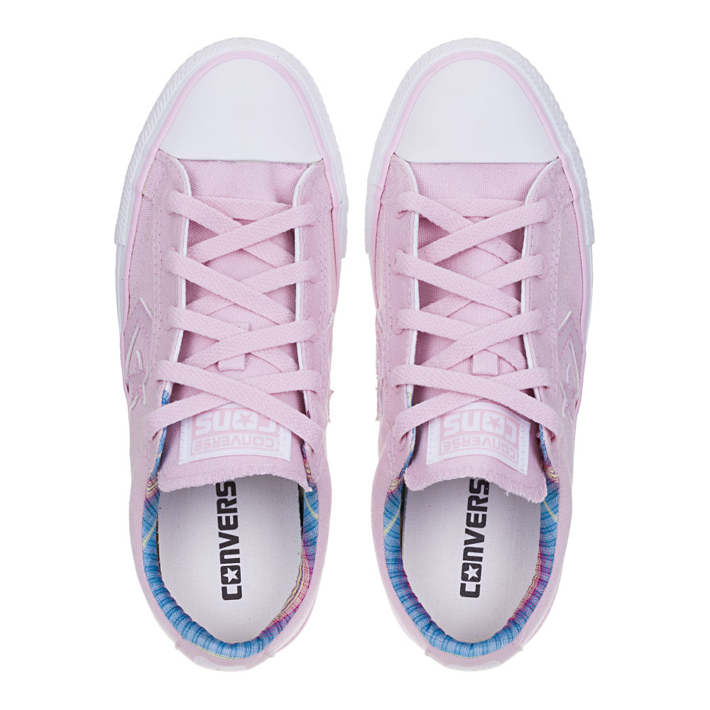 TÊNIS FEMININO CONVERSE ALL STAR STAR PLAYER EV OX ROSA ANTIGO/ROSA ANTIGO/BCO - CO 0023.0001