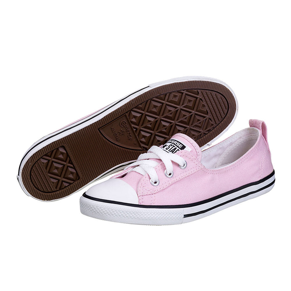 TÊNIS FEMININO CONVERSE ALL STAR  CT AS BALLET LACE ROSA ANTIGO/BCO/PTO - CE 0011.0002