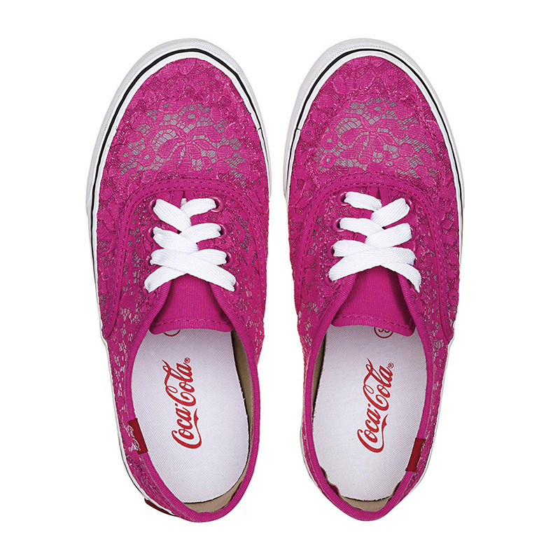 Tênis Coca-Cola Kick Renda Pink