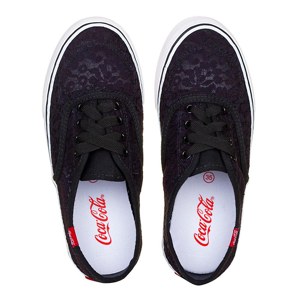 Tênis Coca-Cola Kick Renda Preto