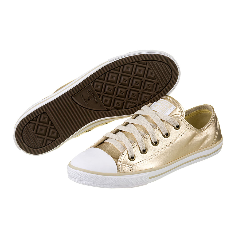 ae99b10d85 TÊNIS FEMININO CONVERSE ALL STAR CT AS DAINTY LEATHER OX GOLD - CE913113 -  OurShoes