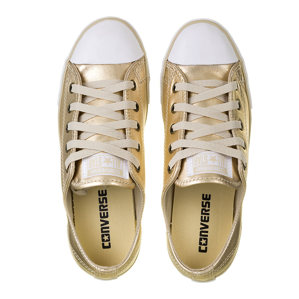 TÊNIS FEMININO CONVERSE ALL STAR CT AS DAINTY LEATHER OX GOLD - CE913113