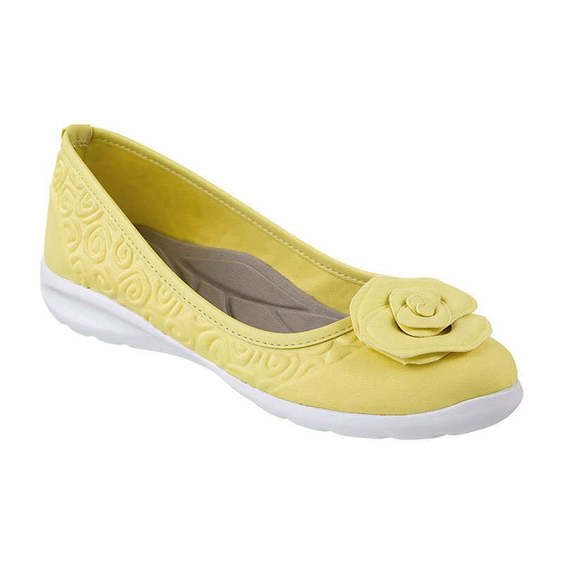 Sapatilha Piccadilly Sola Eva Branco Napa Amarelo Palido