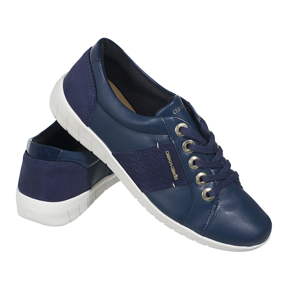 TÊNIS FEMININO CRAVO & CANELA MT NAPPA BASIC BIC*TOP CAM GREASE NAVY*ECOPELLE LUX NAVY - 145501-2
